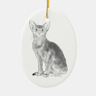 Black and White Aby Ceramic Ornament
