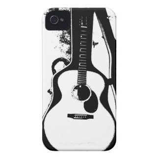 Black and White Acoustic Guitar Case