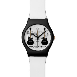 Black and White Acoustic Guitars Watch