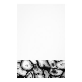 black and white Agate Stationery