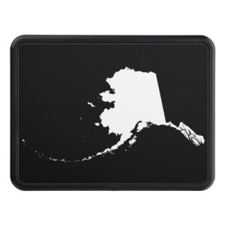 Black and White Alaska Trailer Hitch Cover
