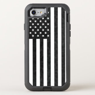 Black and White American Flag OtterBox Defender OtterBox Defender iPhone 8/7 Case