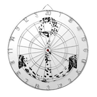 Black and White Anchor Leopard Eye Overlay 2 Dartboards