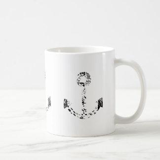 Black and White Anchor Leopard Eye Overlay Basic White Mug