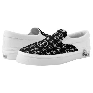 Black and White Anchor Patter Sneaker