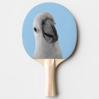 Black and white animal cute cockatoo photo ping pong paddle