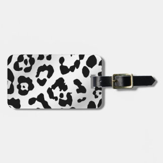 Black and White Animal Print Luggage Tag