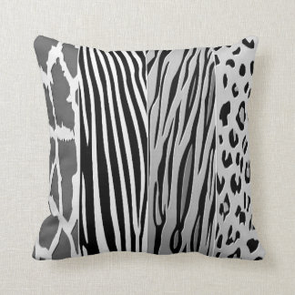 Black And White Animal Printed Zebra Stripe Pillow