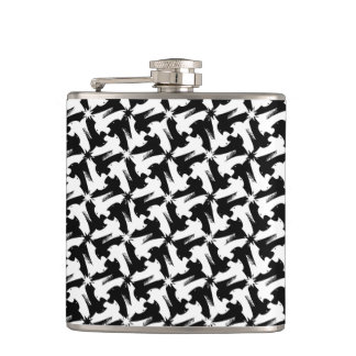 Black and white animal sylish classy pattern hip flask