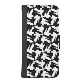 Black and white animal sylish classy pattern iPhone SE/5/5s wallet case