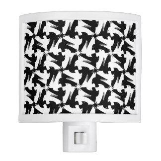 Black and white animal sylish classy pattern night lites