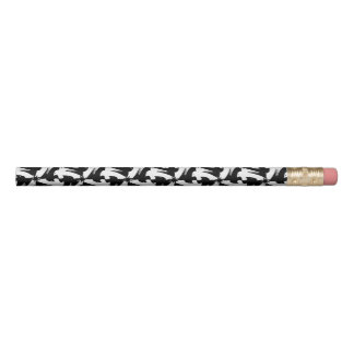 Black and white animal sylish classy pattern pencil