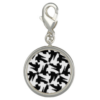 Black and white animal sylish classy pattern photo charms