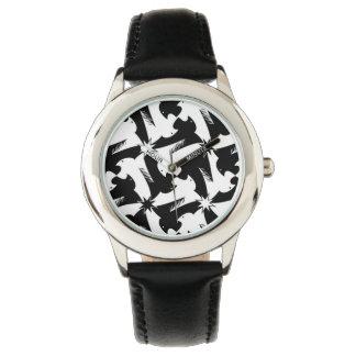 Black and white animal sylish classy pattern wrist watches