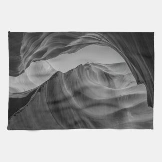 Black and White Antelope Canyon Kitchen Towel