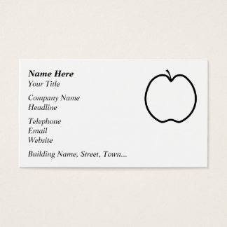 Black and White Apple. Business Card