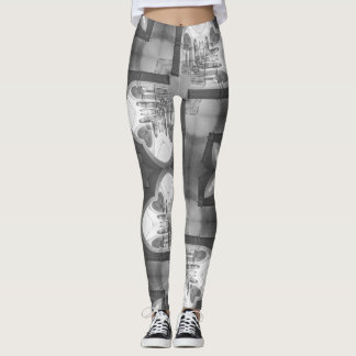 Black and White Arch Geometric Leggings