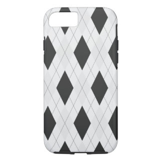 Black and White Argyle Case for iPhone 7 case