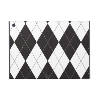 Black and White Argyle Cases For iPad Mini