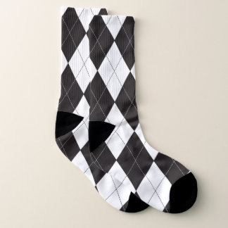 Black and White Argyle Pattern 1