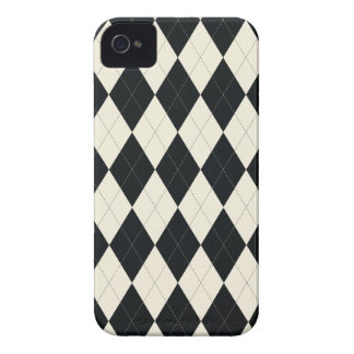 Black and White Argyle Universal iPhone 4 Case