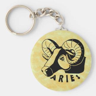Black and White Aries Keychain