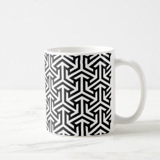 Black and white arrow pattern coffee mug