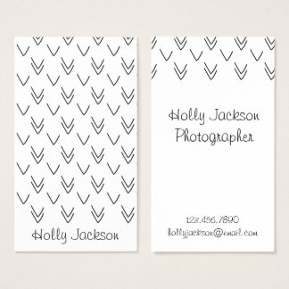 Black and White Arrows Business Card