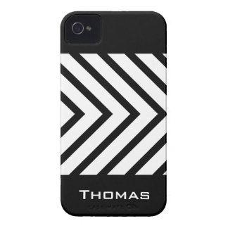 Black and white arrows personalized iPhone 4 case