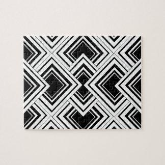 Black And White Art Deco Design Jigsaw Puzzle