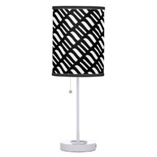 Black and white art table lamp