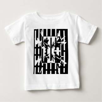 Black and white artistic pattern baby T-Shirt