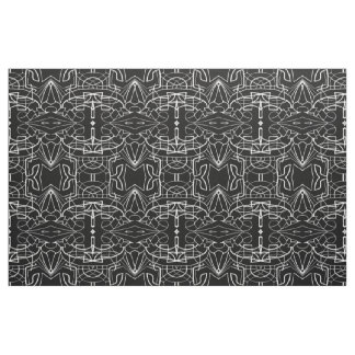 Black and White Artwork Design Pattern Fabric