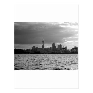 Black and White Auckland Skyline Postcard