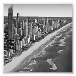 Black and White Australia Gold Coast Photo Print
