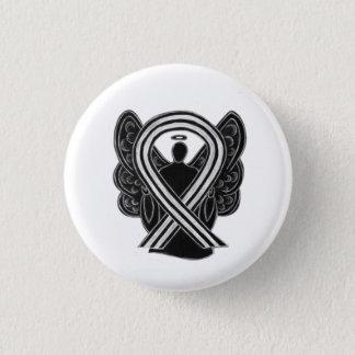 Black and White Awareness Ribbon Angel Pin