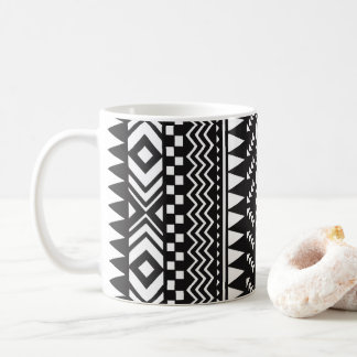 Black and White Aztec Coffee Mug