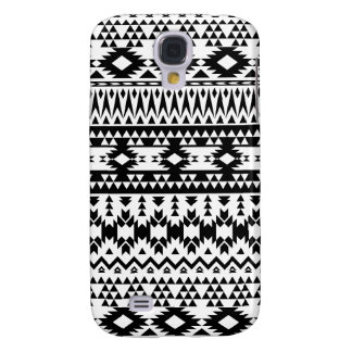 Black and White Aztec geometric vector pattern
