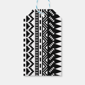 Black and White Aztec Tribal Gift Tags