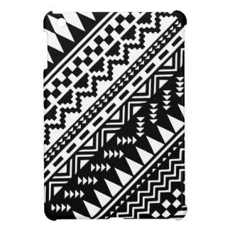 Black and White Aztec Tribal iPad Mini Cases