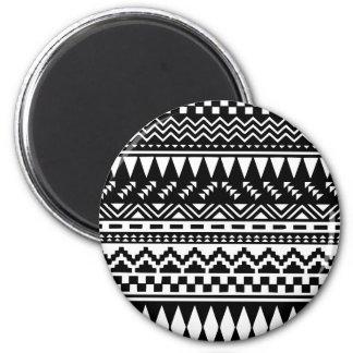 Black and White Aztec Tribal Magnet