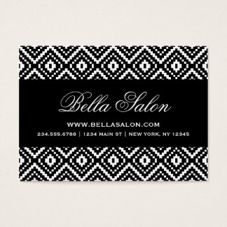 Black and White Aztec Tribal Print Business Card