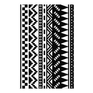 Black and White Aztec Tribal Stationery