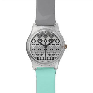 Black And White Aztec - Wrist Watch