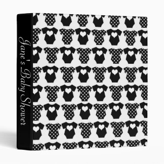 Black and White Baby Shower Binders