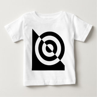 Black and white baby's visual stimulation tee