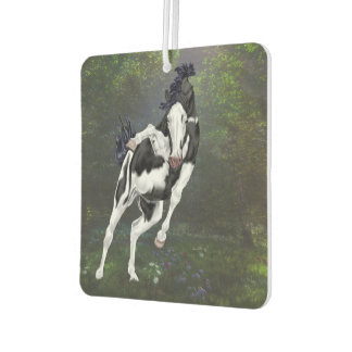 Black and White Bald Face Overo Paint Horse Car Air Freshener