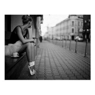 Black and White Ballerina Postcard