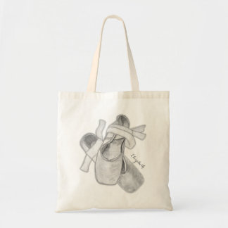 Black and White Ballet Shoes Art Personalized Bag