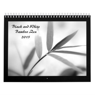 Black and White Bamboo Zen 2015 Wall Calendars
